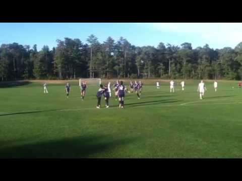 Nantucket 's game winning goal against Cape Cod academy - 09/23/2014