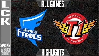 AFS vs SKT Highlights ALL GAMES | LCK Week 6 Spring 2018 W6D3 | Afreeca Freecs vs SK Telecom T1
