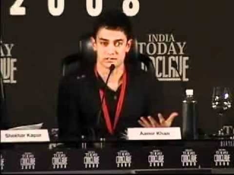 Aamir Khan, Ashok Amritraj and shekhar kapoor speech at India Today Conclave 2008