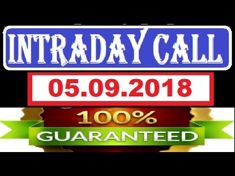 IntraDay Top 3 Jackpot Call 05.09.2018 || today stock || intraday || best stock for 2018