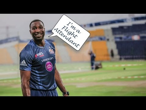 Mumbai Indians - Kieron Pollard As Flight Attendant | Exclusive Video