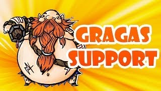 DER DICKE SUPPORTER | GRAGAS SUPPORTER - LEAGUE OF LEGENDS FULL GAMEPLAY