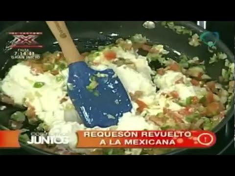 Receta para preparar requesón revuelto a la mexicana. Receta de requesón / Comida mexicana