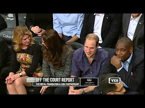 Prince William and Kate Middleton: at Cavaliers vs Nets NBA Game in New York City