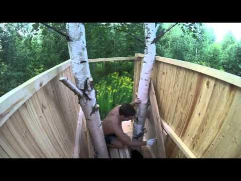 Шалаш на дереве своими руками