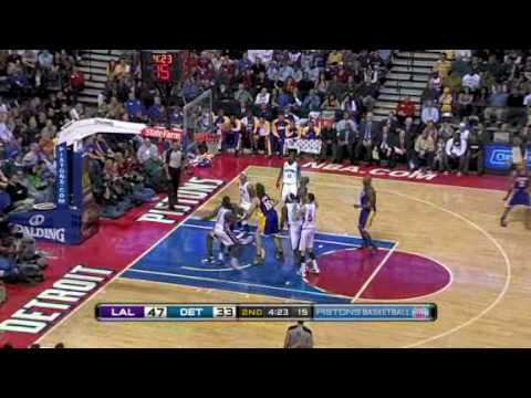 Lakers vs Pistons (NBA Highlights) 12/20/2009