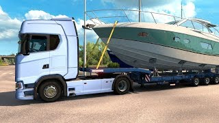 Euro Truck Simulator 2 - The New Generation 4x2 Scania S580 Yacht Transport