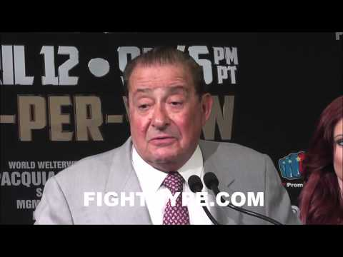 BOB ARUM SAYS TIMOTHY BRADLEYS STOCK WENT UP DESPITE LOSS TO MANNY PACQUIAO