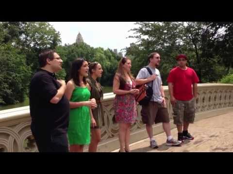 Marry Me (Train Cover) - Satellite Lane A Cappella Proposal in Central Park