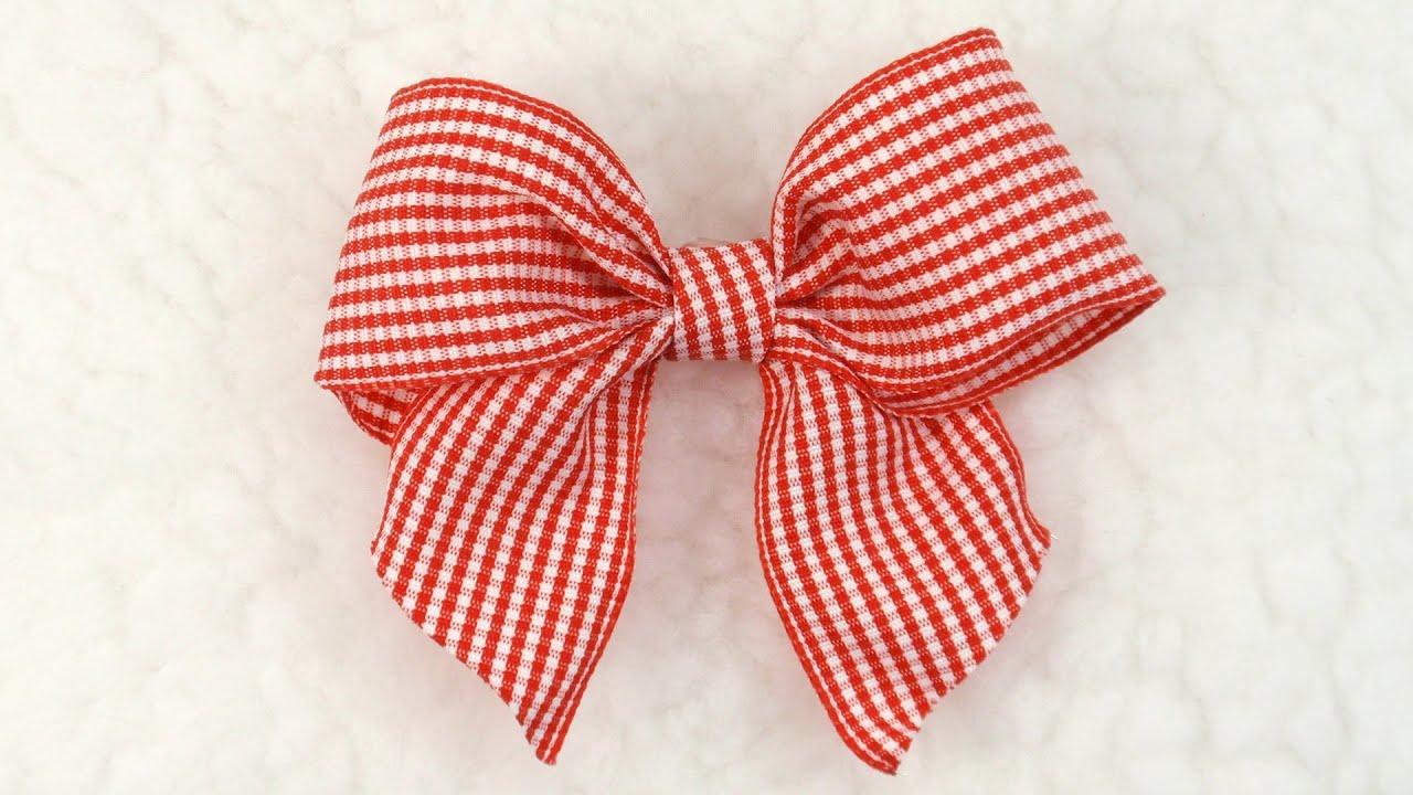 diy gingham bow tutorial diy ribbon bow 6 youtube. Black Bedroom Furniture Sets. Home Design Ideas