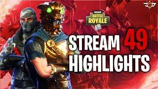AM I THE BEST SNIPER IN FORTNITE HISTORY?! - Fortnite: Battle Royale - Stream Highlights - Part 49!