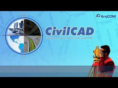 CivilCAD Generar Secciones Transversales de terreno a lo largo de una línea central