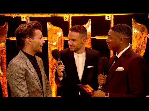 One Direction's Louis Tomlinson and Liam Payne backstage at The BRITs l The BRIT Awards 2016