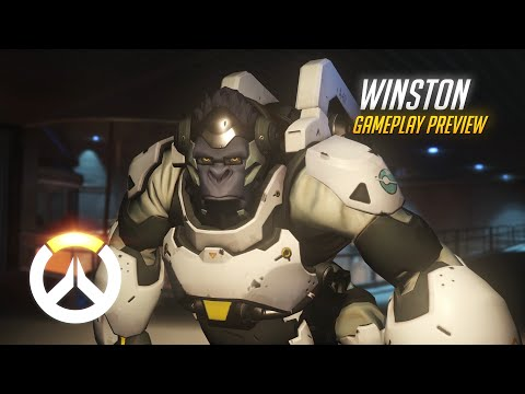 Winston Gameplay Preview   Overwatch   1080p HD, 60 FPS