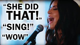 Youtubers Reacting to Demi Lovato's HIGH NOTE in 'Father' Live!