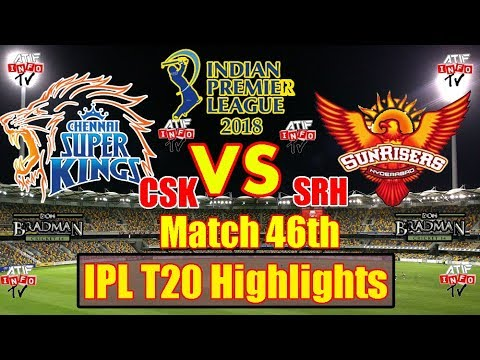 CSK VS SRH | Vivo IPL 2018 | 46th Match Full Highlights 2018 | Don Bradman Cricket 2014 Game Play