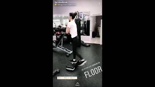 Tati Westbrook Working Out | Snapchat Story