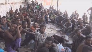 Illegal African migrants detained in Yemen
