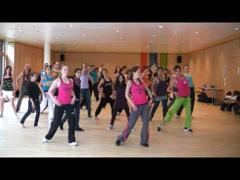 Dancing Waka Waka -- Zumba, Zürich, Switzerland!! video