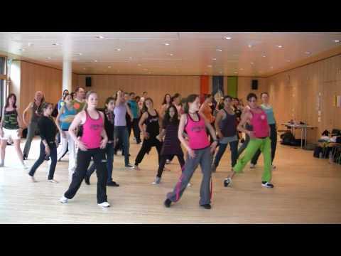 Dancing Waka Waka -- Zumba, Zürich, Switzerland!! video