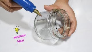 Awesome and Cute Idea with empty glass jar| how to recycle glass jar| best reuse idea