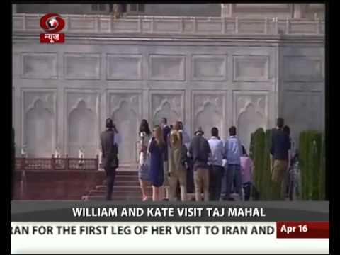 William &  Kate visit Taj Mahal