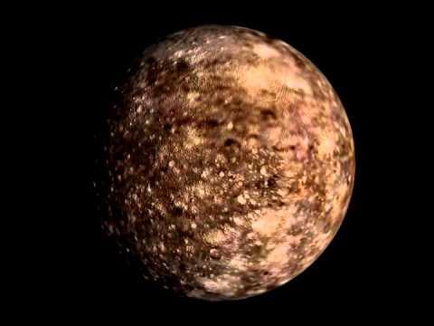 Rotation 3D d'Obéron, satellite de la planète Uranus