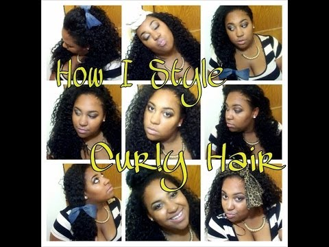 How I Style My Curly Hair ft Outre Quick Weave Giselle