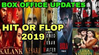 Hit or flop | Box office collection of kalank, the Tashkent file, raw, kesari, badla, luka chuppi,