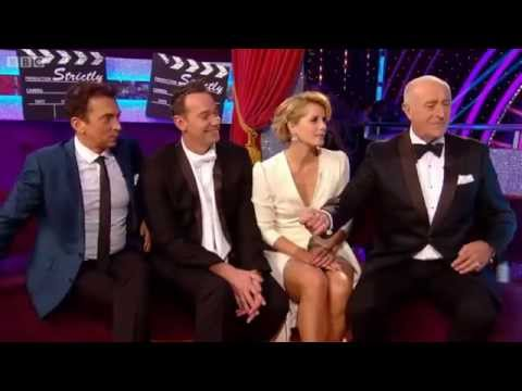 Darcey Bussell Knicker Flash at 4:12 Strictly Dancing BBC 12 10 14