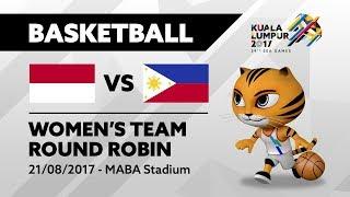KL2017 Women's Basketball - INA 🇮🇩 vs PHI 🇵🇭 | 21/08/2017