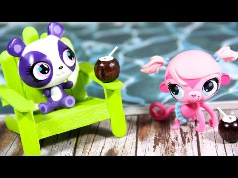 How to Make Doll Beach Chairs/ Patio Chairs   Plus Bonus Craft : Coconut Milk Drink