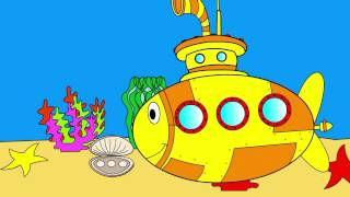 Educative cartoon for kids about submarine