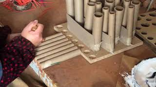 How are fireworks made?  Dominator Fireworks Factory Cake Assembly!