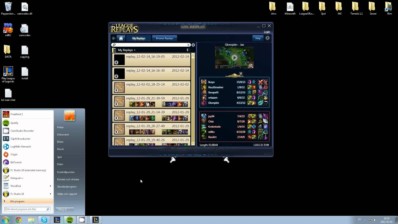how to record your lol games