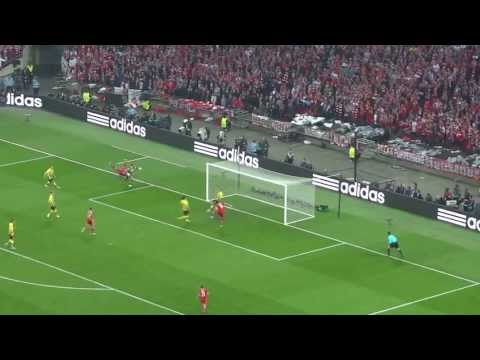 Mario Mandzukic's goal for Bayern Munich - UCL Final 2013