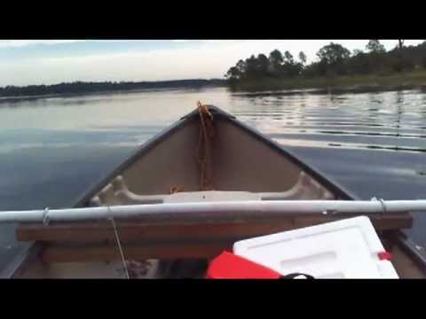 SS Minnow maiden voyage - Canoe and trolling motor