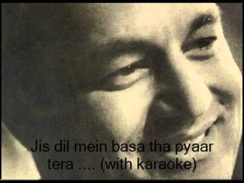 Jis dil mein basa tha pyaar tera.... with karaoke by: Jitendra...