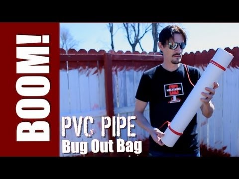 ZOMBIES -  HOW TO MAKE A PVC PIPE BUG OUT BAG!