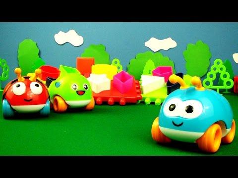 Видео для детей: Жуки-Машинки. Геометрические фигуры