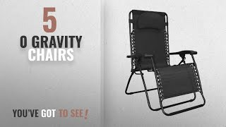 Top 10 0 Gravity Chairs [2018]: Caravan Sports Infinity Oversized Zero Gravity Chair, Black