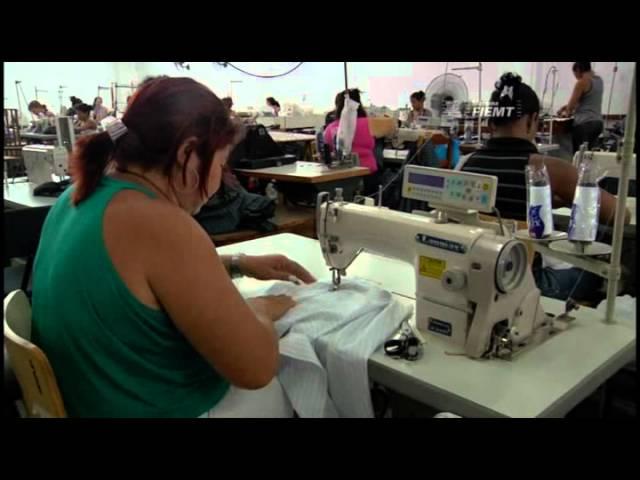 TV INDÚSTRIA: Aprenda como se fabrica roupas em uma moderna indústria de MT 01/07/2011