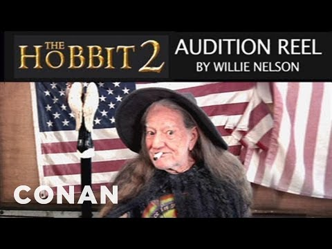 Willie Nelson's &quot;The Hobbit 2&quot; Audition Reel - CONAN on TBS