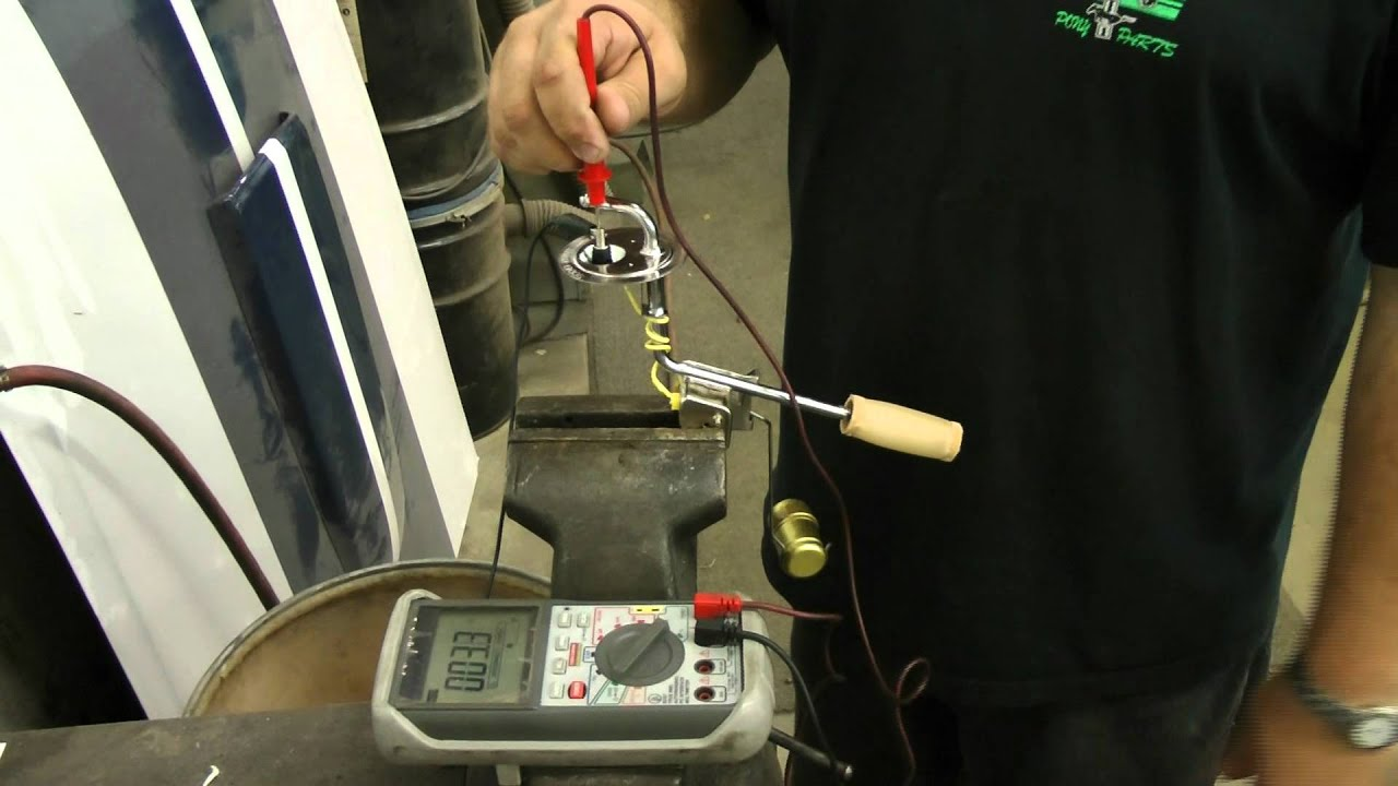 How To Test If Your 1965-1970 Mustang Fuel Sending Unit Is ...
