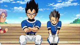 Cabba and Vegeta sitting together