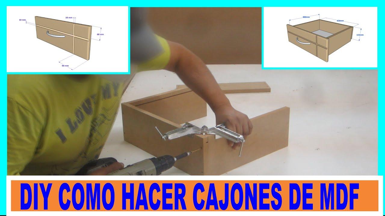 hacer cajones de placas de mdf para mueblesDIY MDF drawers  YouTube