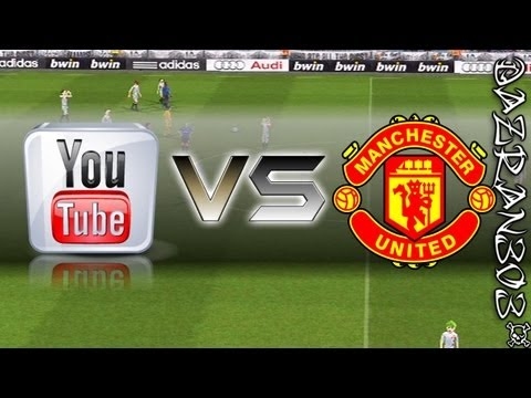 Pro Evolution Soccer 2012 Wii | YOUTUBE ALLSTARS vs MANCHESTER UNITED