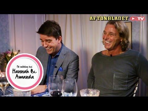 Patrik Sjöberg och Patrick Ekwall i På middag hos Hannah & Amanda