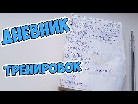 Дневник тренировок: образец