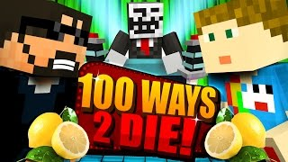 Minecraft: 100 WAYS TO DIE CHALLENGE - DRINKING LIME JUICE CHALLENGE [2]